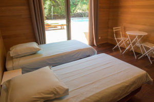 location villa bois porto-vecchio chambre