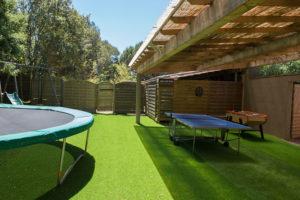 location villa bois porto-vecchio pingpong et trampoline